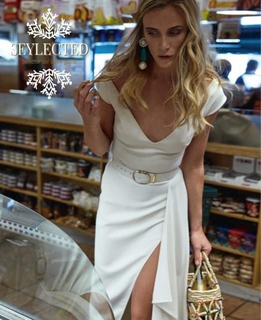 Sin duda, ir a la compra con este vestido, llamará la atención. Pero hace tiempo que no te preocupa esta parte, verdad.? Y menos, si es para bien. Sólo lo tienen en blanco.? No me importaría tenerlo en 12 colores más.