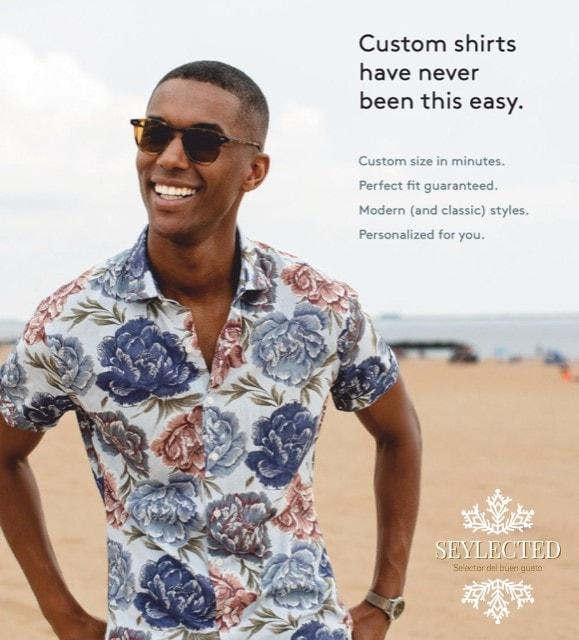 Camisa flores: quién dijo que no son compatibles las flores en una camisa de hombre y la elegancia.?